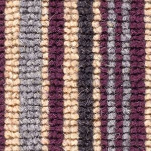 Cheltenham Stripe 01 Aubergine Red Beige Carpet
