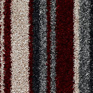 City Twist Supreme 06 Cherry Stripe Red Beige Carpet