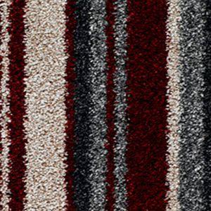 City Twist Supreme 06 Cherry Stripe Red Beige Carpet